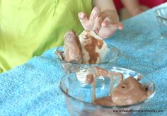 Pretend Frozen/Melting Ice Cream from Fun at Home with Kids