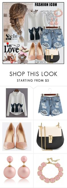 """""""Shein 3/IX"""" by merima-p ❤ liked on Polyvore featuring WithChic, Chloé and Fornash"""