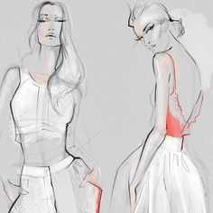 Illustration by Julija Lubgane  Zuhair Murad gorgeous collection, having so much fun illustrating it.