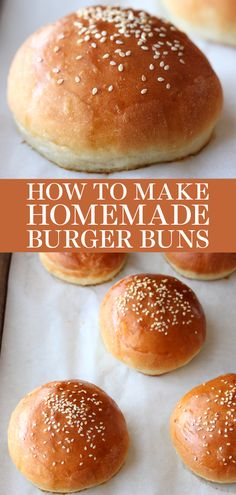 How to Make Burger Buns homemade that are one thousand times better than anything store-bought! These are the BEST. So soft, fluffy and rich - nothing competes with this easy recipe! Bread Maker Recipes, Best Bread Recipe, Bun Recipe, Baking Recipes, Dessert Recipes, Easy Recipes, Dinner Recipes, Homemade Burger Buns, Homemade Breads