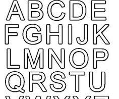 Gabarit de lettres pour appliqués   printable   Pochoir lettre, Lettre a et Alphabet à imprimer