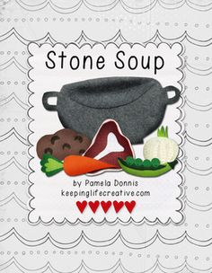 Crafts for Kids | Printable story set for retelling Stone Soup on the flannel or magnet board