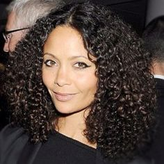 #curlygirl celebrity the talented Thandie Newton. Styling her bouncy tight curls