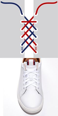 Welcome to Tommy Hilfiger. Tie Shoes, Your Shoes, Men's Shoes, Shoe Boots, Ways To Lace Shoes, Lace Sneakers, Leather Sneakers, Lace Patterns, Mode Outfits