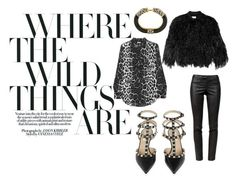 all things animal by amandalen on Polyvore featuring polyvore, fashion, style, Equipment, By Malene Birger, Helmut Lang, Valentino and Kenneth Jay Lane