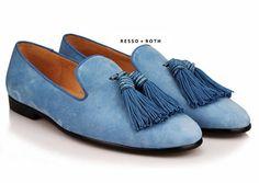 5cc29a33d6e37 Resso Roth Men's Blue Suede Loafers Belgian Loafers Mens Blue Suede Loafers,  Loafers Men,
