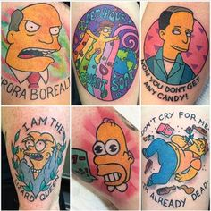 "Zzzzzap! | 27 Tattoos That Prove ""Simpsons"" Fans Are The Greatest On Earth"