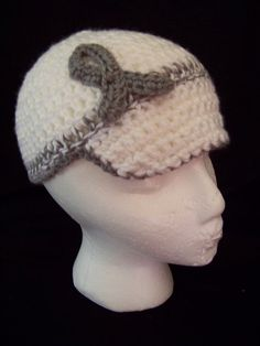 Brain Cancer awareness crocheted hat