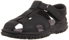 Stride Rite Angler Black Fisherman Sandal (Toddler/Little Kid) Stride Rite. $34.95. Rubber sole. Made in China. leather