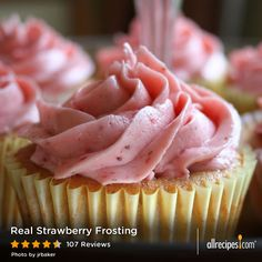 Real Strawberry Frosting | 5 ingredients + 1 cool trick = pretty pink frosting perfection.