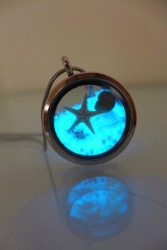 Glow In The Dark Beach Jewelry Starfish Silver by ChusCraft