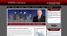 Attorney William J Kropach's site was created by WebShark360.
