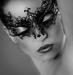 Masquerade makeup.