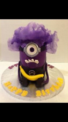 Minion Buttercream Smash Cake Minions Pinterest