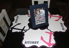 Pink and Navy Nautical Inspired Birthday Party