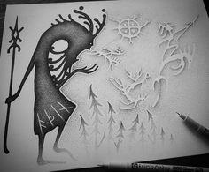 Pagan Symbols, Norse Pagan, Pagan Art, Ancient Symbols, Ancient Art, Norse Tattoo, Viking Tattoos, Blast Over Tattoo, Wilderness Tattoo