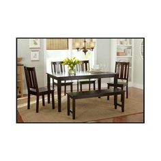 Dining-Room-Set-Table-Furniture-Chairs-Bench-Kitchen-Dinner-Wood-6-Piece-Modern