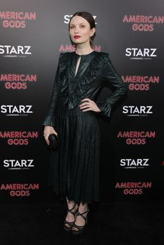 """Actress Emily Browning attends the premiere of Premiere Of Starz's """"American Gods"""" at the ArcLight Cinemas Cinerama Dome on April 20, 2017 in Hollywood, California."""