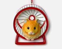 Hamster Personalized Ornament Hand by OrnamentsInTheGreen on Etsy