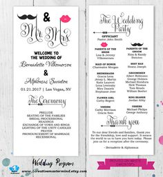 Best DIY Wedding Program Templates Images On Pinterest Wedding - Editable wedding program templates