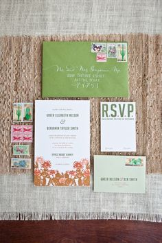 Invitation with Desert Stamps