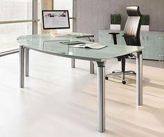 Ocean Glass Executive Desk