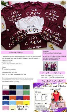 Bridal party FRIENDS bachelorette shirts 9de3892c65cb3