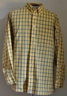 Men's RGM Chairman's Collection Plaid Dress Shirt 100% Cotton Sz 3XL Long Sleeve