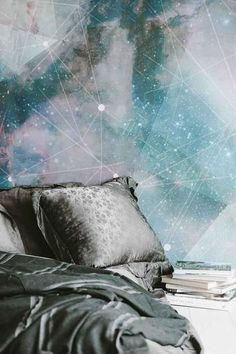 A large out-of-this-world space themed wall art addition to your home! Details include: Constellation outer space themed galaxy wallpaper design Smooth, matte finish Large galaxy mural wallpaper includes six panels Temporary Wallpaper, Galaxy Wallpaper, Wall Wallpaper, Wallpaper Backgrounds, Disney Wallpaper, Wallpaper Quotes, Iphone Wallpaper, Large Wall Murals, Prepasted Wallpaper