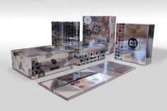 Silver box for cosmetics Solutia Packaging - Fashion bags, paper box, shopping and paper shopper - Solutia Pack custom bags