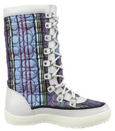 Coach Women's Peggey Quilted Tartan Lace-up Winter Boots (6.5 B(M) US). Great Look!