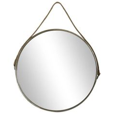 product image for 26-Inch Round Mirror in Brown