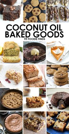 A round-up of healthier baked goods using coconut oil from healthy food bloggers around the web!