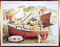 The Cornish Pilchard Boat by David Gentleman