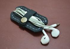 Organizador de auriculares devanadera del Cable del por leathermix