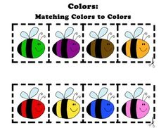 FILE FOLDER COLOR MATCHING Bee themed file folder matching activity! Perfect for special education hands on learning. Independent task folder.