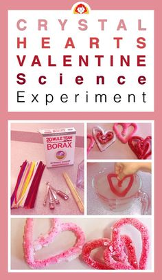 Incorporate science and math into your Valentine's Day classroom celebration this year with a crystal hearts science experiment. This simple and easy salt crystal experiment is a great way to demonstrate how. My Funny Valentine, Science Valentines, Valentine History, Valentine Theme, Valentine Crafts For Kids, Valentines Day Activities, Valentines Day Party, Pick Up, Science For Kids