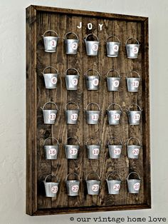 our vintage home love: Christmas Advent Calendar - DIY