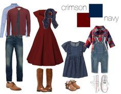 #Shopable fall family picture outfit set on #Polyvore, by Kate L Photography.   Boston Family Photographer