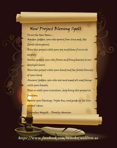 New Project Blessing Spell