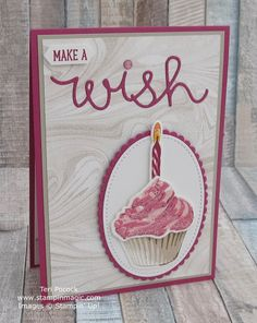 Sweet Cupcake and Marbled by Stampin Up. Created by UK Independent Demonstrator Teri Pocock. Birthday Card Sayings, Birthday Cards For Women, Happy Birthday Images, Handmade Birthday Cards, Happy Birthday Cards, Birthday Quotes, Birthday Wishes, Birthday Greetings, Handmade Cards