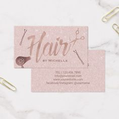 Christian pastor business card diy cyo customize gift idea hair stylist gold typography blush rose gold business card stylist business cards cyo personalize businesscard negle Gallery