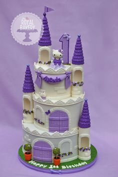 Hello Kitty Castle Hello Kitty Castle A castle cake for Alexis' first birthday…