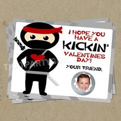 """These Ninja Valentines are perfect for boys to give their classmates or friends for Valentine's Day. My son Carter is very active 5-year old boy and seems to act like a ninja about every other day. """"Hi-ya-ing"""" and trying to do spin kicks in our living room (probably from watching Ninjago a little too much). … … Continue reading →"""