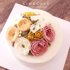 Buttercream flower cake in the last class was beautifully made 아쉬운 마지막 수업이지만 곧…