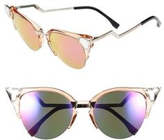 Fendi Crystal 52mm Tipped Cat Eye Sunglasses http://www.shopstyle.com/action/loadRetailerProductPage?id=458243677&pid=uid1209-1151453-20