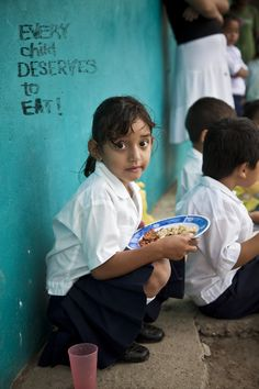 Every child deserves to eat.    http://www.convoyofhope.org/givehope
