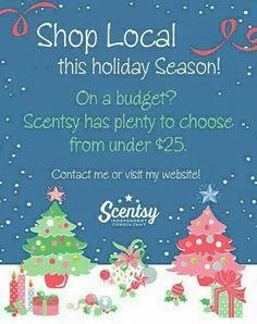 Shop Local this holiday season with me https://alanaszymanski.scentsy.us/