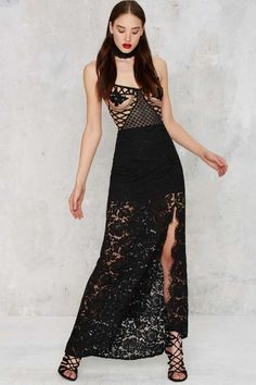 Cut to the Lace Maxi Skirt - Black | Shop Clothes at Nasty Gal!