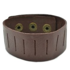 Brown Leather Layering Bracelet $5